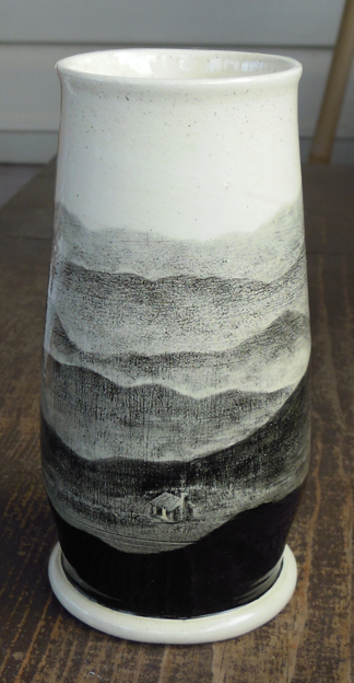 Mountain Cabin Vase
